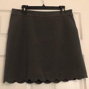 Loft: gray skirt size 10